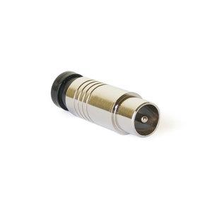 Compressie coax connector recht male