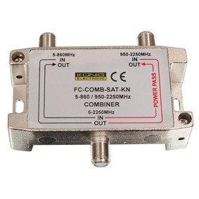 Combiner satelliet en kabel TV
